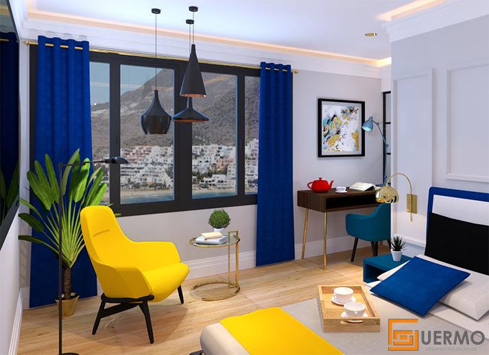 Diseño habitación hotel