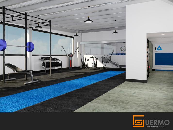 Modelado render gimnasio Plyo Fitness Room